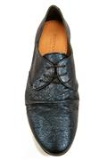 Lesly Laces Blue Carem Laminated Leather