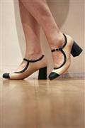 Eleonora Cream Nappa Black Leather