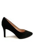 Decollete with Plateau Black Suede