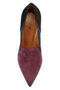 Sia Patchwork Suede Wine Blue Black