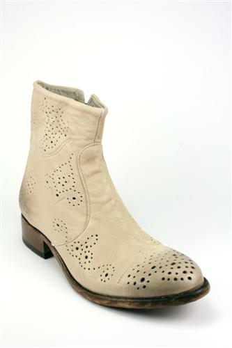 Perforated Boots White