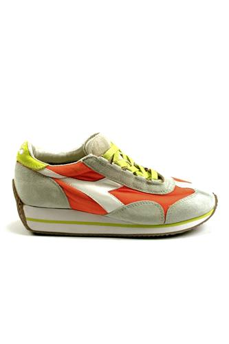 DIADORA heritageEquipe W Stone Wash Grey Alaska Dark Orange