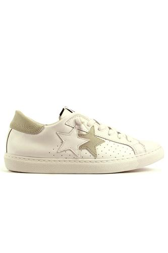 2STAR2SU White Leather Ice Suede Details