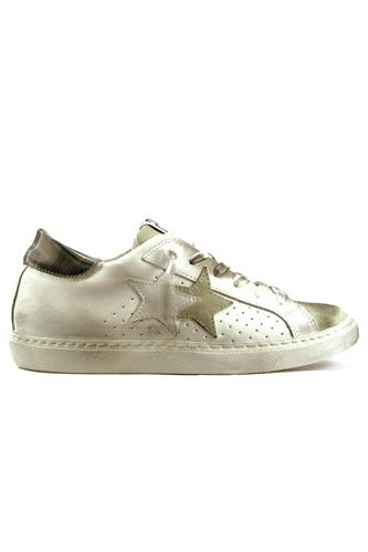 2STAR2SD Low White Leather Ice Suede Grey Laminate