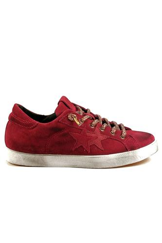 2STAR2S Low Red Suede
