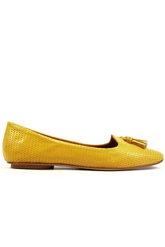 Glove Yellow Gorse Woven Leather Tassels, BRUGLIA