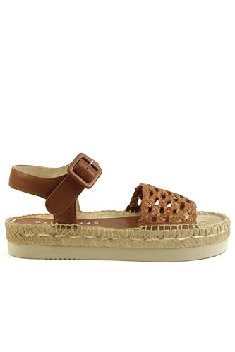 PALOMA BARCELO'Amanda Natural Biscuit Woven Leather