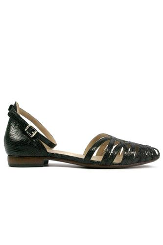 Alyssa Black Laminated Leather, DUCCIO DEL DUCA