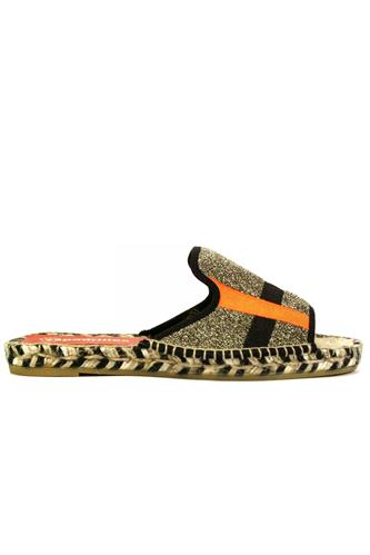 B.Lurex Gold Black Orange, ESPADRILLES