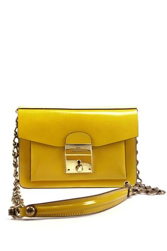 CAMPOMAGGIClutch Celestina Yellow Patent Leather