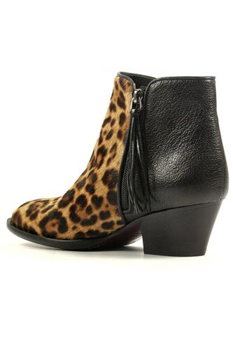 Helene Leopard Horsy Black Leather