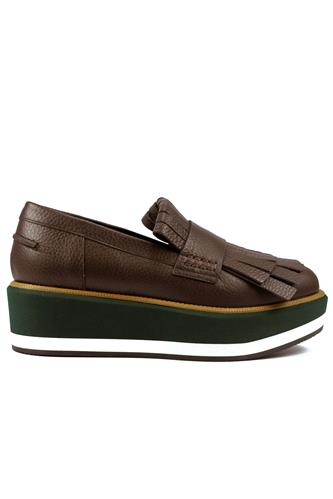 Illinois Riga Green Low Brown Leather, PALOMA BARCELO'