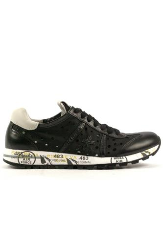 Lucy D Black Perforated Leather, PREMIATA