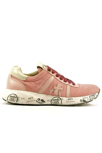 Matthew Nylon Pink Leather White Patent, PREMIATA