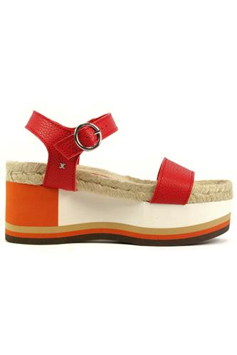Nila Red Leather Rope Orange White Micro, FABI