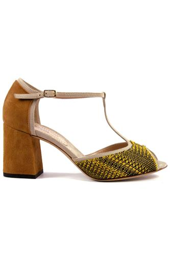 MINA BUENOS AIRESSarah Yellow Cloth Almond Suede