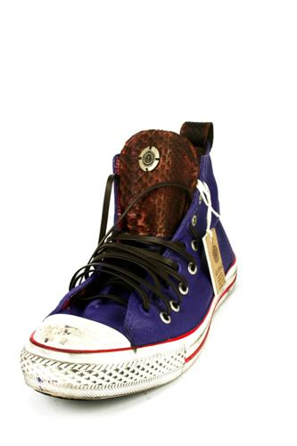 dioNisOVintage Sneakers Python Brown Purple